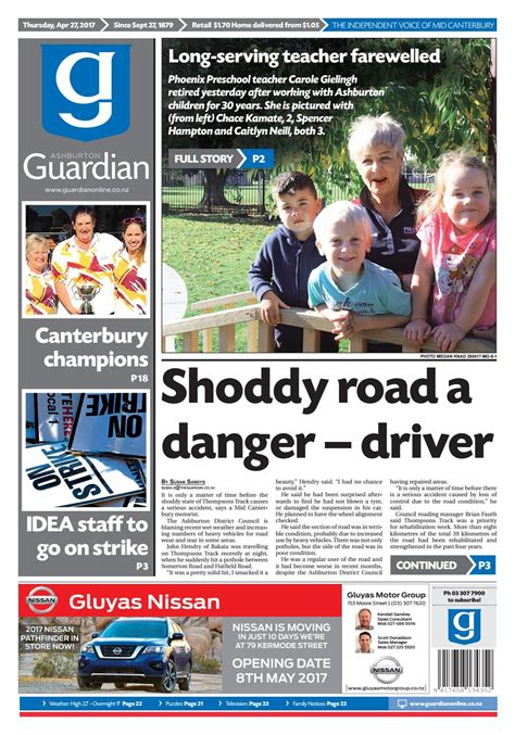 ag 27 april 2017 by ashburton guardian issuu 463 | page 1