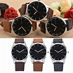 Retro Design Dot Leather Band Analog Quartz Wrist Watch OI ...