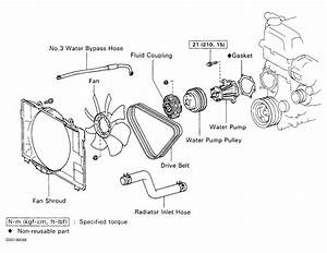 1994 Toyota Pickup Serpentine Belt Routing And Timing Belt