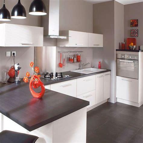 cuisine grise plan de travail blanc plan de travail gris anthracite great plan de