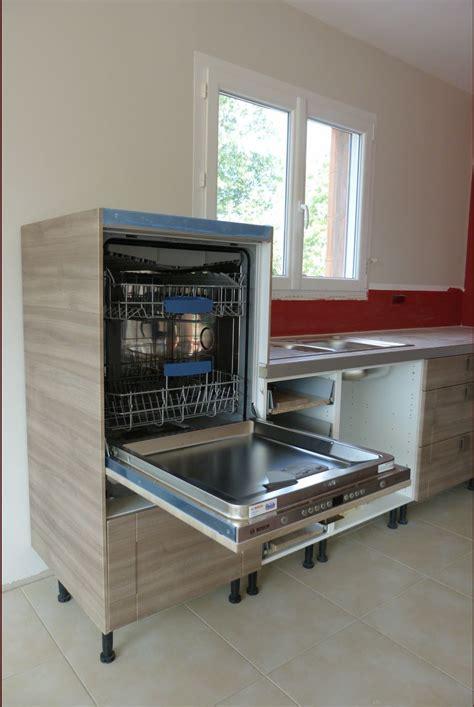 machine a laver dans la cuisine hauteur lave vaisselle