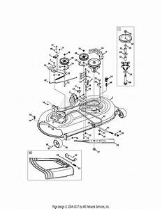 Mtd 13aj775s000  2011  Parts Diagram For Mower Deck 42