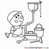 Plumber Coloring Pages Drawing Template Getdrawings Sketch sketch template