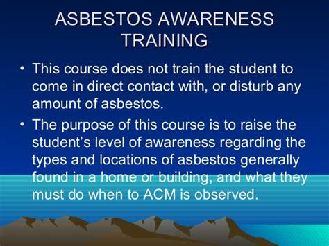 hour asbestos awareness training