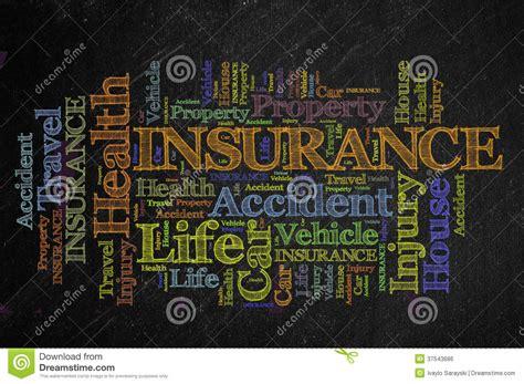 Insurance Blackboard Royalty Free Stock Image