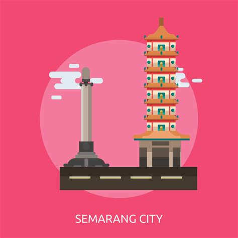 semarang city  indonesia conceptual