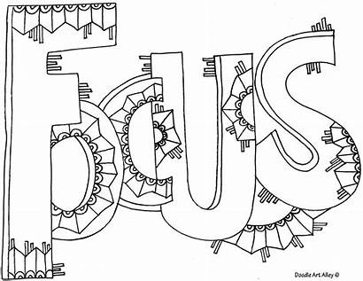Coloring Doodle Alley Word Adult Focus Printable