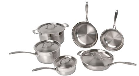 lowest price   highly rated professional copper clad  piece cookware set
