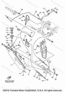 Yamaha Atv 2002 Oem Parts Diagram For Rear Master Cylinder