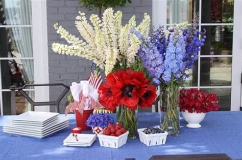 easy  july centerpieces decorating ideas  national