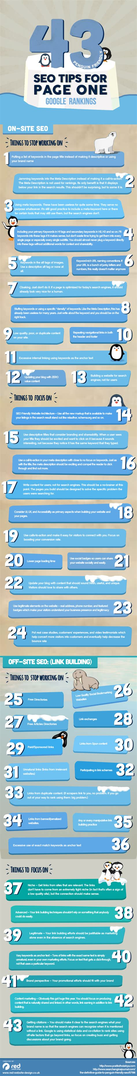 Penguin Friendly Seo Tips For Page One Google Rankings