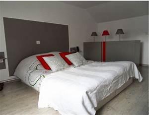 Tete De Lit Rouge : 16 d co de chambre grise pour une ambiance zen deco cool ~ Teatrodelosmanantiales.com Idées de Décoration