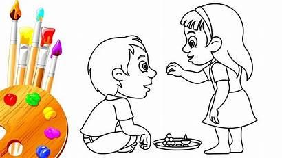 Bhai Drawing Dooj Memory Bhau Special Beej