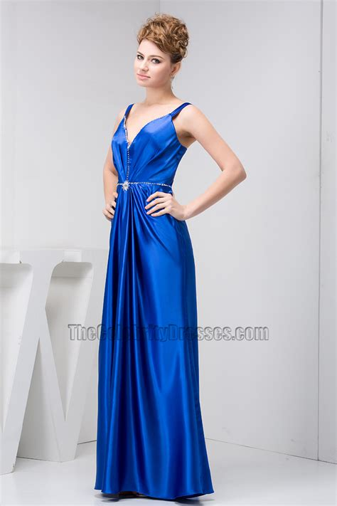 Royal Blue Floor Length Evening Dress Prom Gown