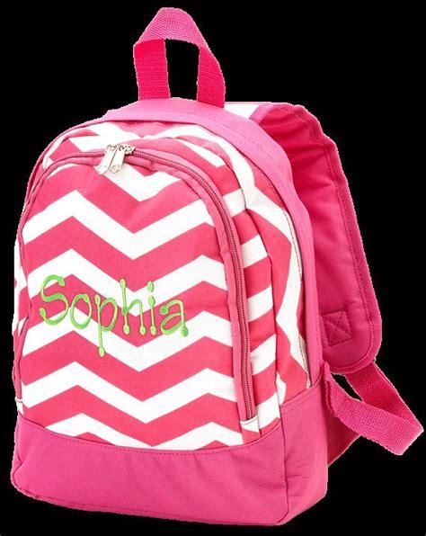 personalized chevron toddler preschool backpack bookbag dance bag swim bag pink zig zag  etsy