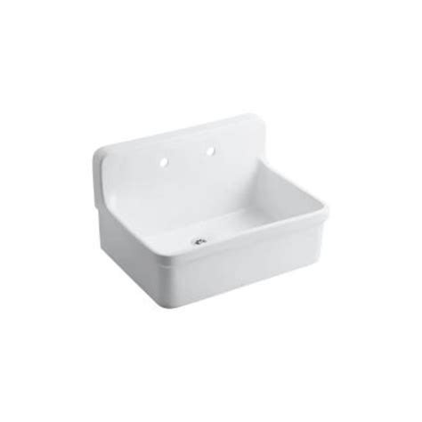 Kohler Gilford Scrub Up Sink by Kohler Gilford 22 In Vitreous China Utility Sink In White