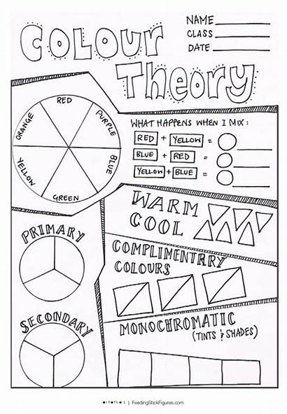 Colour Wheel Theory Sheet Pages Lessons Elementary