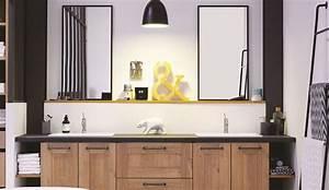 Prix Meuble Salle De Bain : meuble salle de bain des mod les de meubles suspendus tendance c t maison ~ Teatrodelosmanantiales.com Idées de Décoration