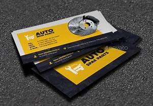 20 best automotive business card design templates pixel for Auto parts business cards design