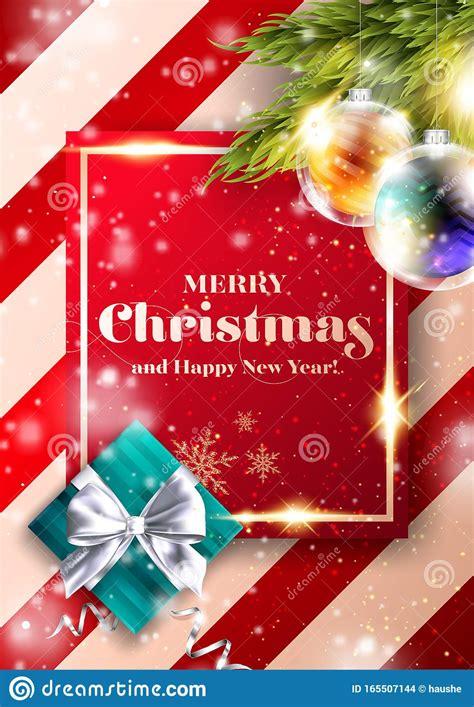 Merry Christmas Vector Background Xmas 2020 Cover Design