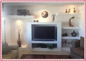 Drywall tv wall unit ideas creative