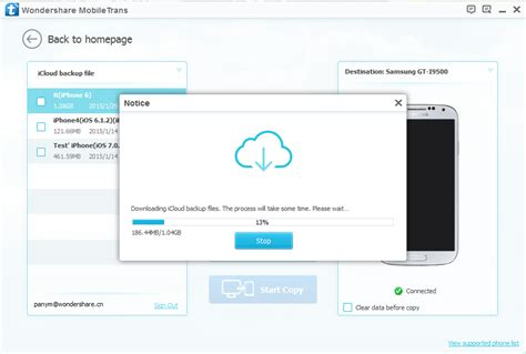 icloud login from android phone mobiletrans one click phone to phone data transfer solution