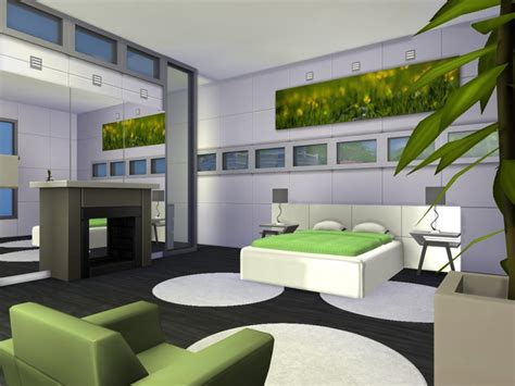 Sims 4 Home Interior Design : Chemy's Limelight Modern