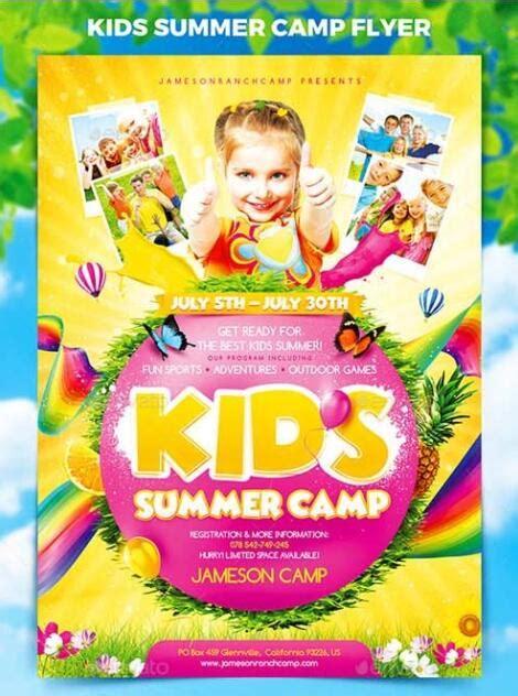 kids summer camp flyer psd template psd templates
