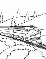 Train Coloring Pages Trains Railroad Freight Drawing Awesome Csx Caboose Passenger Printable Track Template Sheets Colorluna Bnsf Getdrawings Luna Locomotive sketch template
