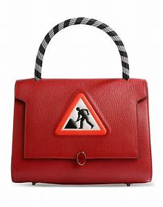 Anya hindmarch Medium Embossed-Leather Bag in Red | Lyst