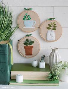 Easy DIY Embroidery Plants Wall Art