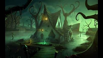 Witch Desktop Backgrounds Halloween Computer Wallpapers Granny
