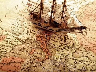 Map Antique Ship Widescreen Maps Background Navigation