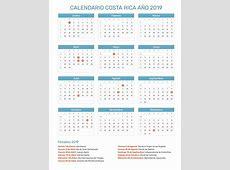 Calendario Costa Rica Año 2019 Feriados
