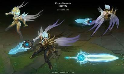 Riven Dawn Bringer Lol League Legends Wallpapers