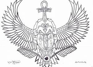 Winged Scarab Tattoo by ~Janet-Asuka on deviantART | i n k ...