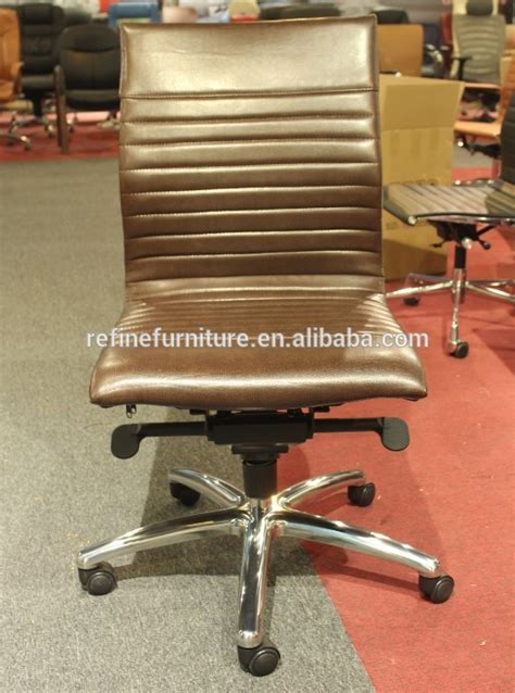 modern leather armless desk chair for hotel no arms rf