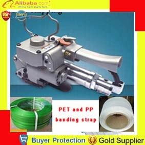 shipping pneumatic pet pp plastic strapping banding tool strap band packing machine