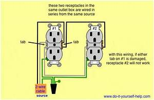 Series Wiring For 2 Gang Outlet Box