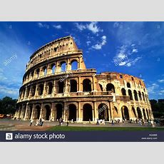 Famous Ruins Of The Coliseum In Rome Italy Stock Photo