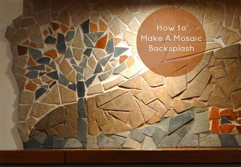 Adhesive Backsplash Tiles For Kitchen - how to make a mosaic backsplash