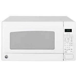white countertop microwave ovens ge 2 0 cu ft countertop microwave in white jes2051dnww