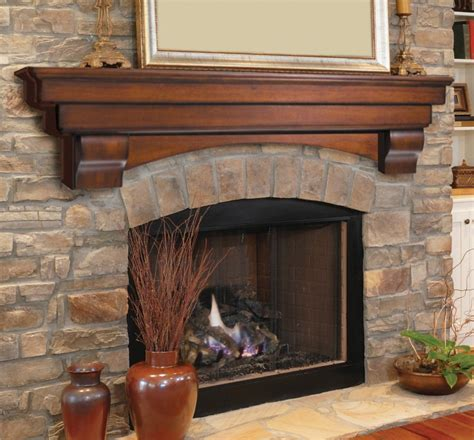 Pearl Mantel Auburn arched fireplace mantel or TV shelf