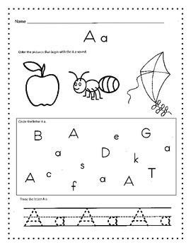alphabet worksheets morning work daily work or homework preschool alphabet worksheets