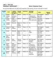 Identifying Minerals Worksheet Worksheets For School Roostanama