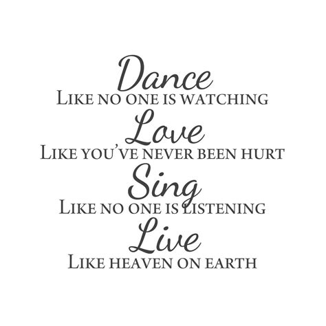 All wall decals are made to order and manufactured in canada. wall quotes wall decals - Dance. Love. Sing. Live.