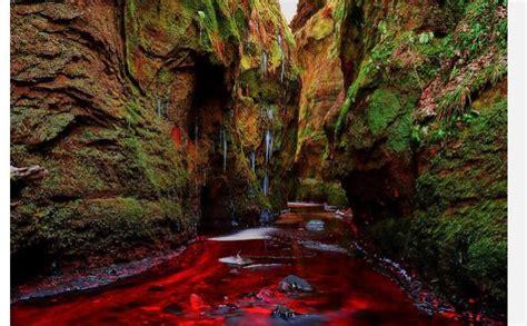 wisata eksotik sungai darah  skotlandia tribunnewscom