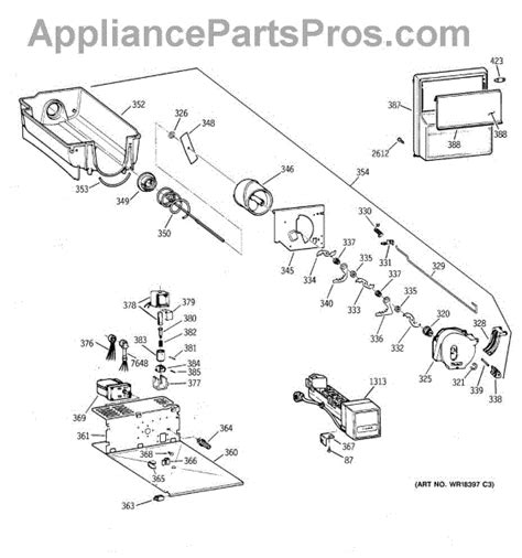 parts  ge zisbdca ice bucket assembly parts