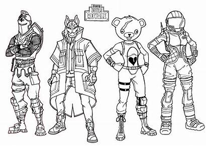Fortnite Coloring Pages Royale Battle Printable Pdf