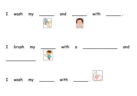 hygiene worksheet by teacherprincess teaching resources
